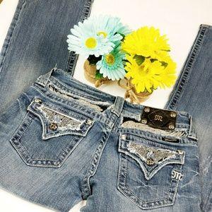 Semi Distressed Bootcut Miss Me Jeans